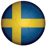 Sweden Football Flag 58mm Button Badge